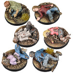 The Walking Dead: Prone Figures Booster