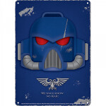 Warhammer: Tin Sign (Small) - Space Marine Helmet