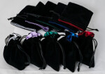 Blackfire Dice Bag - 10x12cm with White Satin Lining
