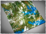 Mousepad games mat, size 4x4, Orbital Earth theme