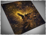 Mousepad games mat, size 4x4, Orbital Night Coast theme
