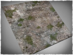 Mousepad games mat, size 3x3, Medieval Ruins theme (with Malifaux zones)