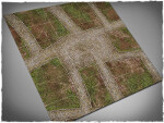 Mousepad games mat, size 3x3, Cobblestone Streets theme (with Malifaux zones)