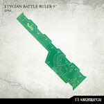 Stygian Battle Ruler 9inch [green] (1)