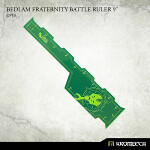 Bedlam Fraternity Battle Ruler 9inch [green] (1)