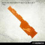 Bedlam Fraternity Battle Ruler 9inch [orange] (1)