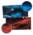 Gaming Mat 6x3: Crimson Gas Giant / Frozen Star System (BB955)