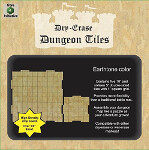Dry-Erase Dungeon Tiles: Combo Pack - 10 inch and 5 inch Interlocking Tiles (Earthtone)