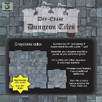 Dry-Erase Dungeon Tiles: Combo Pack - 10 inch and 5 inch Interlocking Tiles (Graystone)