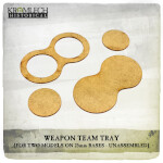 Weapon Team Tray (for two models on 25mm round bases) 7x