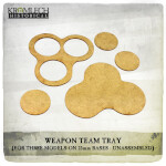 Weapon Team Tray (for three models on 25mm round bases) 5x