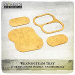 Weapon Team Tray (for two prone models) 5x