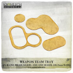 Weapon Team Tray (for one prone model and one model on 25mm round base) 5x