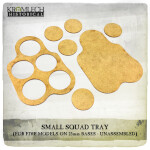 Small Squad Tray (for 5 models on 25mm round bases) 3x