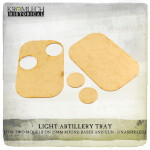 Artillery Tray (for two models on 25mm round bases and gun) x3