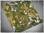 Mousepad games mat, size 4x4, Aerial Fields