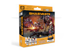 Model Color Set: Infinity Shasvastii Paint Set - includes Exclusive Miniature